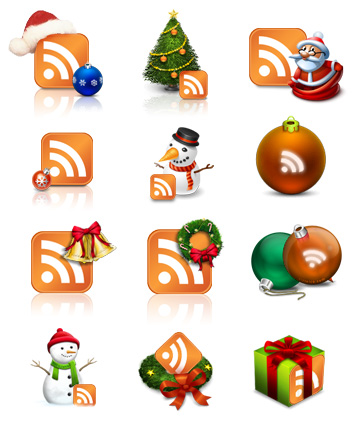 The Real Christmas RSS Icons