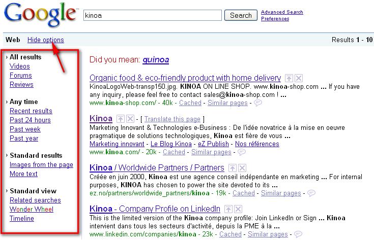 Recherche Google Améliorée