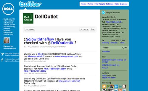 Dell sur Twitter