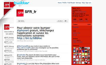 SFR sur Twitter
