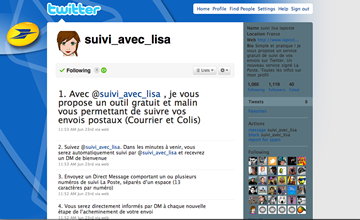 Suivi Lisa La poste Twitter
