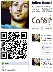 Le QR code sur Facebook