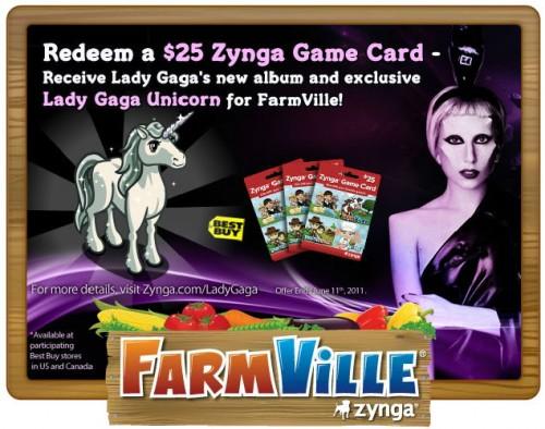lady gaga farmville