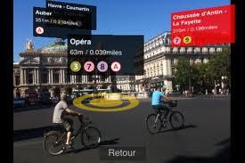 Réalité augmentée repères Paris