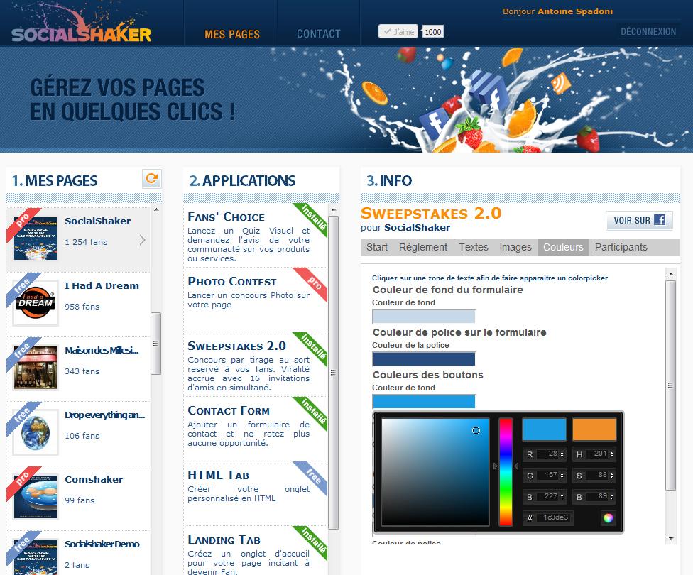 screen shot socialshaker