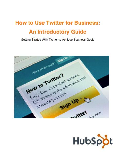 Hubspot ebook pour Twitter