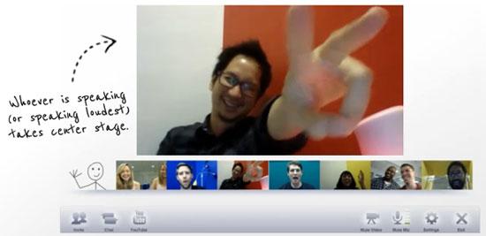 chat videoconference Google+
