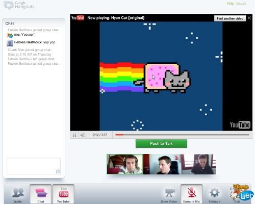 chat partage de video Youtube Google+