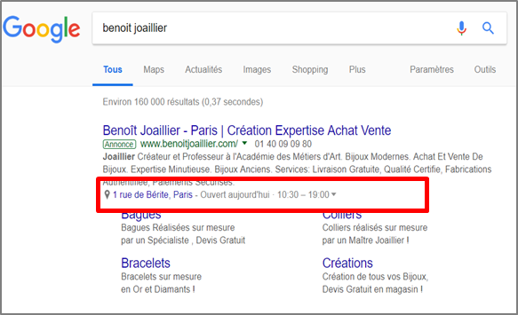 Extensions sur Google