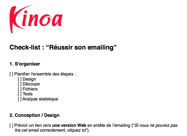 checklistemailing
