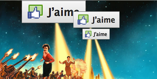 Invasion du bouton Like de Facebook