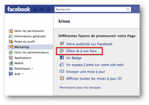 Importer des contacts sur sa page facebook