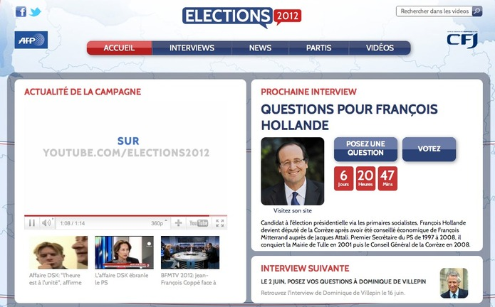 Francois Hollande election 2012 Youtube